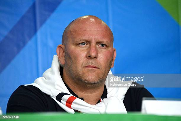 Coach Stephane Lecat in press conference during Swimming on Olympic Games 2016 in Rio at Olympic Aquatics Stadium on August 13 2016 in Rio de Janeiro...