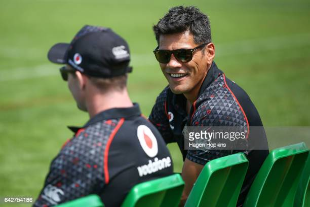 Coach Stephen Kearney of the Warriors looks on during the NRL Trial match between the Warriors and the Gold Coast Titans at Central Energy Trust...