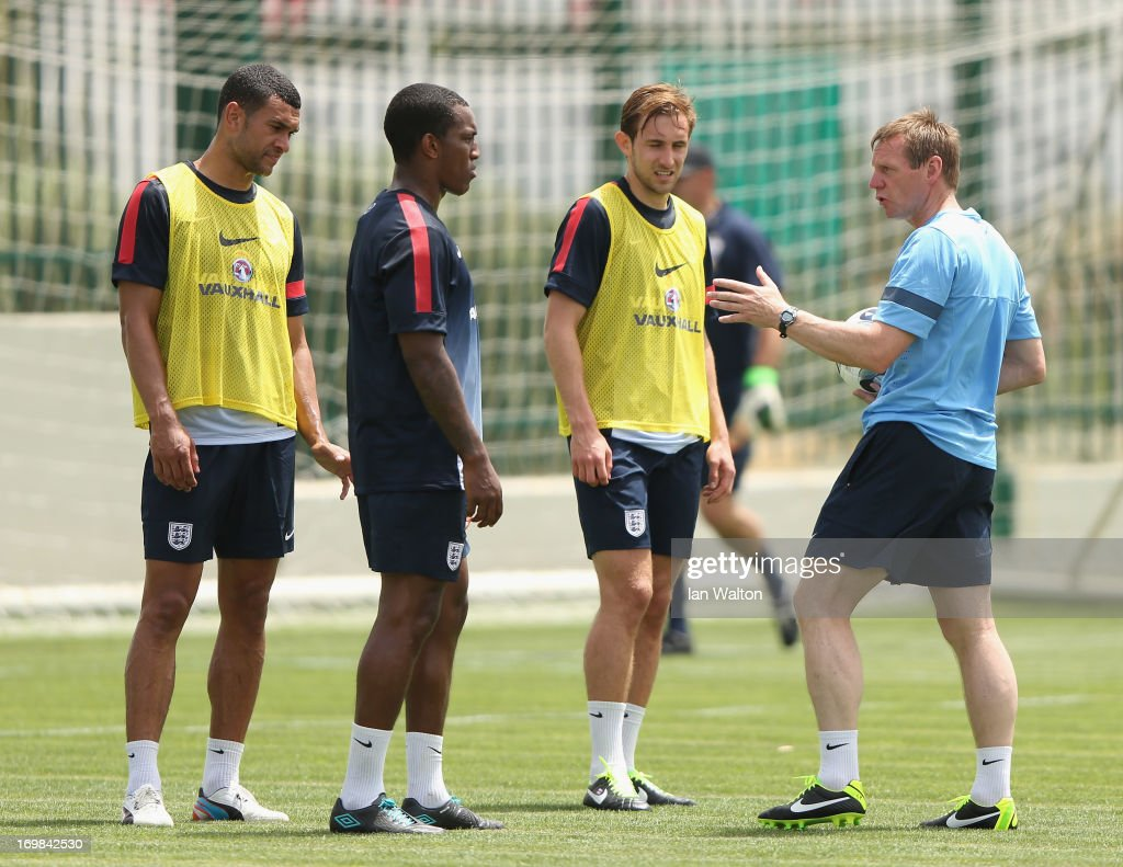 England Training and Press Conference - UEFA European U21 Championships : News Photo