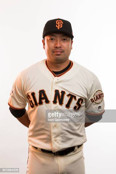 Coach Taira Uematsu poses for a photo during the San Francisco Giants photo day on Tuesday Feb 20 2018 at Scottsdale Stadium in Scottsdale Ariz