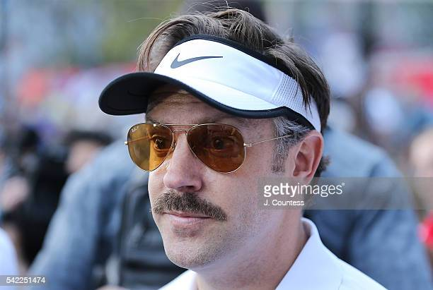 Coach Ted Lasso speaks with the media following the 2016 Steve Nash Foundation Showdown at Sara D Roosevelt Park on June 22 2016 in New York City