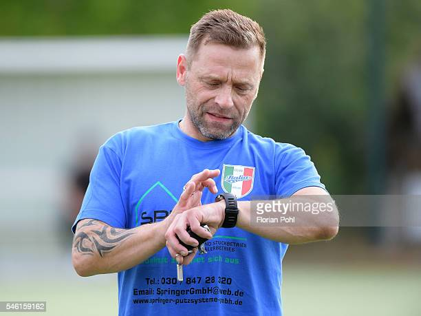 coach Thomas Haessler of Italia 80 Berlin during the training on july 11 2016 in Berlin Germany