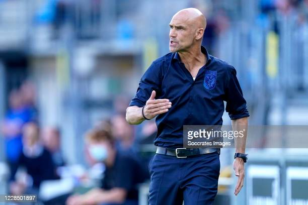 Coach Thomas Letsch of Vitesse during the Dutch Eredivisie match between RKC Waalwijk v Vitesse at the Mandemakers Stadium on September 13, 2020 in...