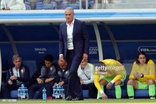 coach Tite of Brazil during the 2018 FIFA World Cup Russia group E match between Brazil and Costa Rica at the Saint Petersburg Stadium on June 22...