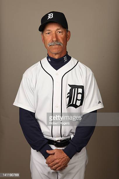 Coach Tom Brookens of the Detroit Tigers poses during Photo Day on Tuesday February 28 2012 at Joker Marchant Stadium in Lakeland Florida