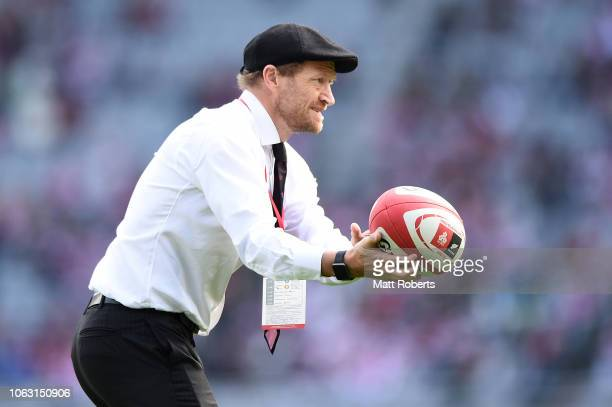 Coach Tony Brown of Japan prior to the test match between Japan and New Zealand All Blacks at Tokyo Stadium on November 03 2018 in Chofu Tokyo Japan