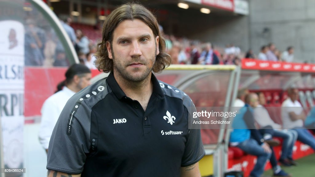 Coach Torsten Frings of Darmstadt during the Second Bundesliga match between 1. FC Kaiserslautern and SV Darmstadt 98 at Fritz-Walter-Stadion on August 4, 2017 in Kaiserslautern, Germany.