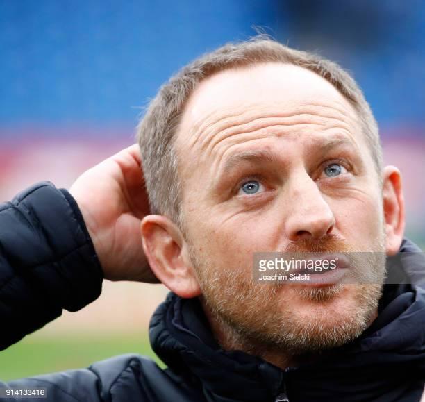 Coach Torsten Lieberknecht of Braunschweig before the Second Bundesliga match between Eintracht Braunschweig and 1 FC Kaiserslautern at Eintracht...
