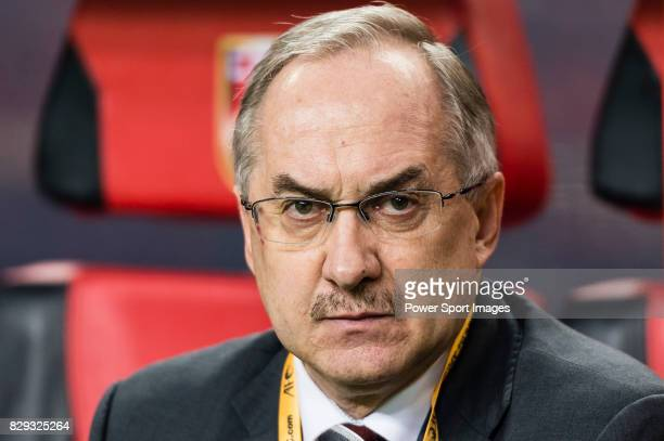 Coach Uli Stielike of Korea Republic prior to the 2018 FIFA World Cup Russia Final Qualification Round Group A match between China PR and Korea...