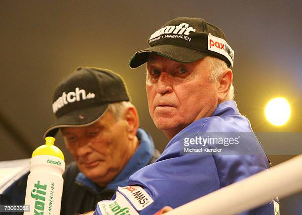 Coach Ulli Wegner during the WBA World Heavyweight Championship fight between Nikolay Valuev of Russia and Jameel McCline of united States at the St....