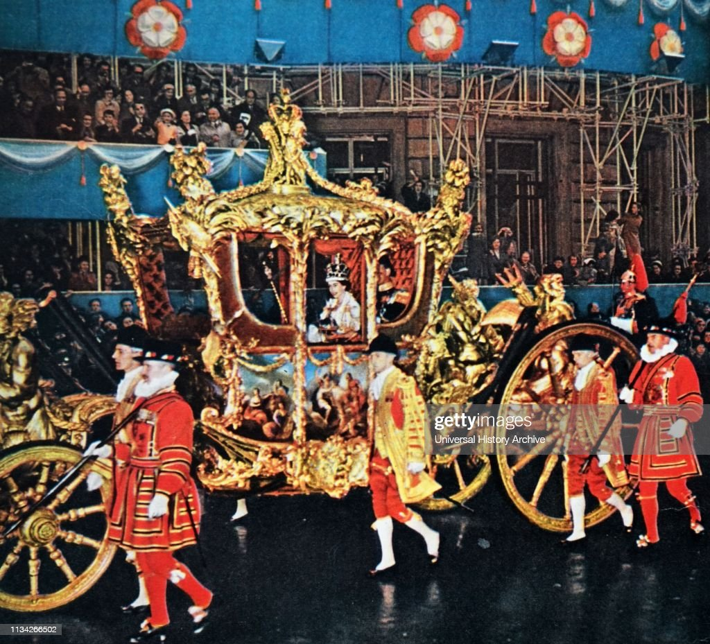 Coach used for the coronation of Queen Elizabeth II of the United ...