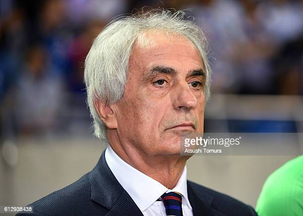 Coach Vahid Halilhodzic of Japan during the 2018 FIFA World Cup Qualifiers match between Japan and Iraq at Saitama Stadium on October 6 2016 in...