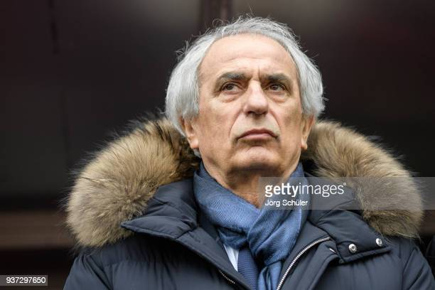 Coach Vahid Halilhodzic of Japan during the International friendly match between Japan and Mali at the Stade de Sclessin on March 23 2018 in Liege...