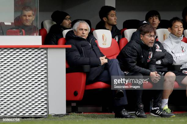 coach Vahid Halilhodzic of Japan during the International Friendly match between Japan v Ukraine at the Stade Maurice Dufrasne on March 27 2018 in...