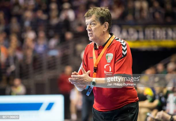 coach Velimir Petkovic of Fuechse Berlin during the EHF Cup game between Fuechse Berlin and Helvetia Anaitasuna at the Max Schmeling Halle on march 4...