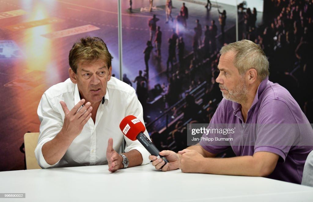 coach Velimir Petkovic of Fuechse Berlin during the media talk at Fuechse-Town on july 11, 2018 in Berlin, Germany.