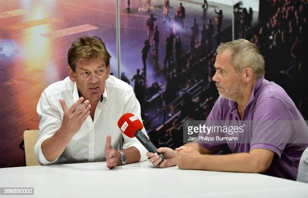 coach Velimir Petkovic of Fuechse Berlin during the media talk at FuechseTown on july 11 2018 in Berlin Germany