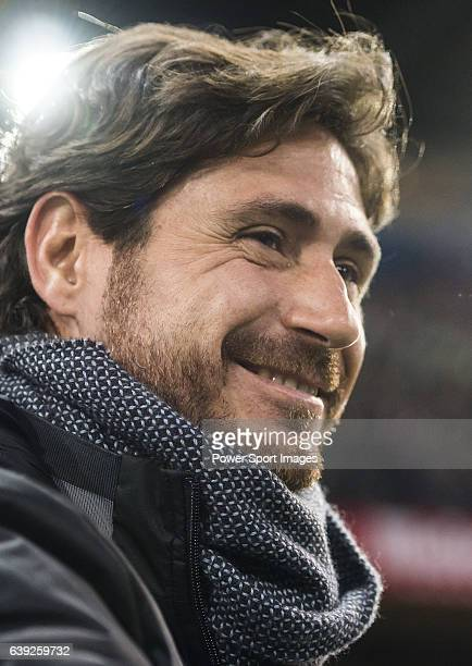 Coach Victor Sanchez del Amo of Real Betis Balompie during their La Liga 2016-17 match between Atletico de Madrid vs Real Betis Balompie at the...