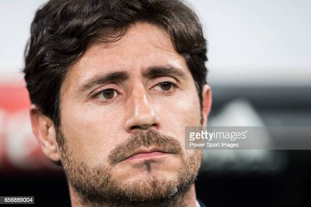 Coach Victor Sanchez del Amo of Real Betis prior to the La Liga match between Real Madrid and Real Betis at the Santiago Bernabeu Stadium on 12 March...