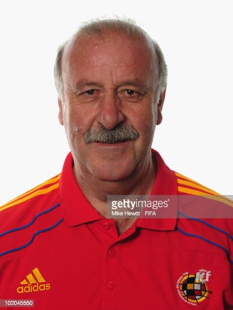 Coach Vincente Del Bosque of Spain poses during the official Fifa World Cup 2010 portrait session on June 13 2010 in Potchefstroom South Africa