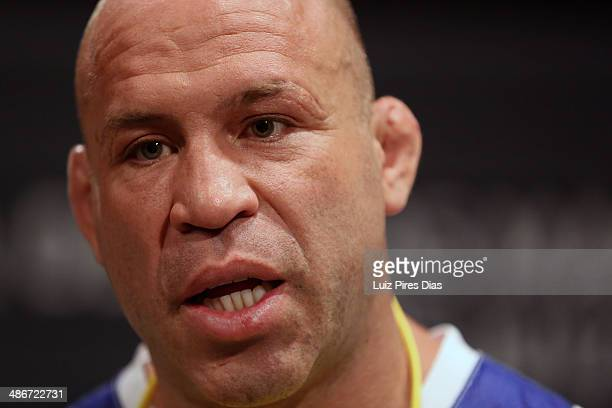 Coach Wanderlei Silva addresses his team during season three of The Ultimate Fighter Brazil on January 28 2014 in Sao Paulo Brazil