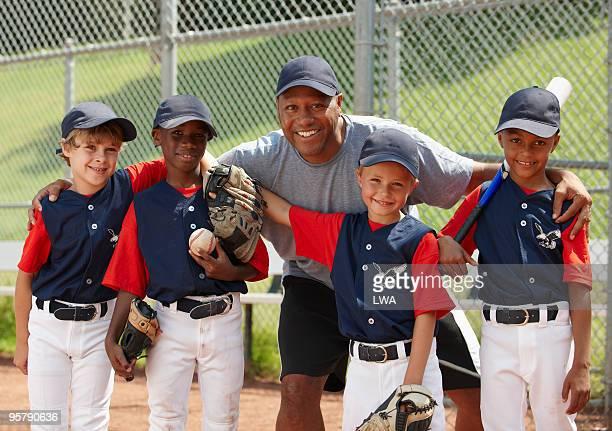 Coach With Little League Team