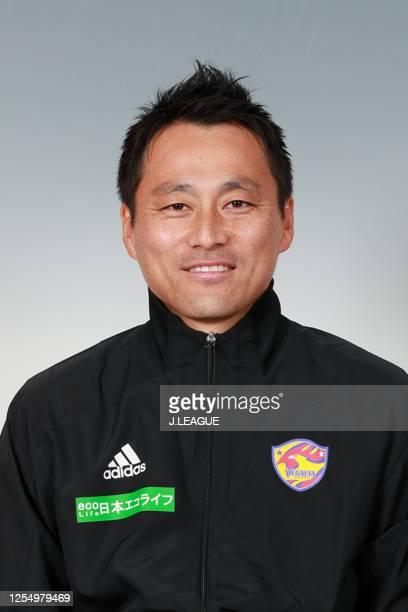 Coach Yuki Kosaka poses for photographs during the Vegalta Sendai portrait session on January 9, 2020 in Japan.