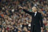coach zinedine zidane real madrid during