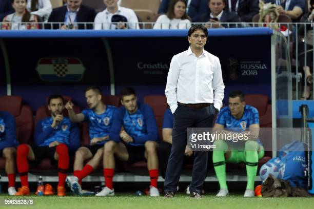 coach Zlatko Dalic of Croatia during the 2018 FIFA World Cup Russia Semi Final match between Croatia and England at the Luzhniki Stadium on July 01...