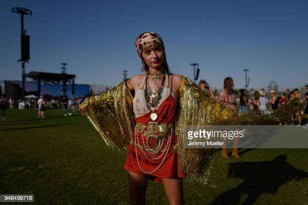 Coachella guest during day 1 of the 2018 Coachella Valley Music Arts Festival Weekend 1 on April 13 2018 in Indio California