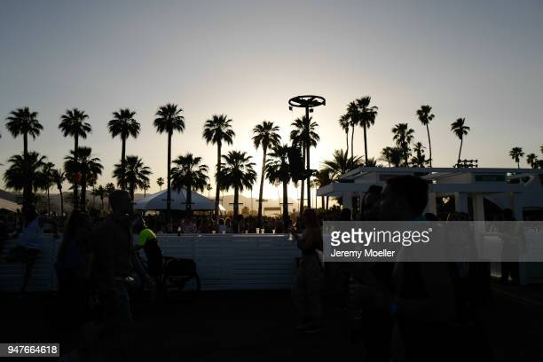Coachella view during day 1 of the 2018 Coachella Valley Music & Arts Festival Weekend 1 on April 13, 2018 in Indio, California.