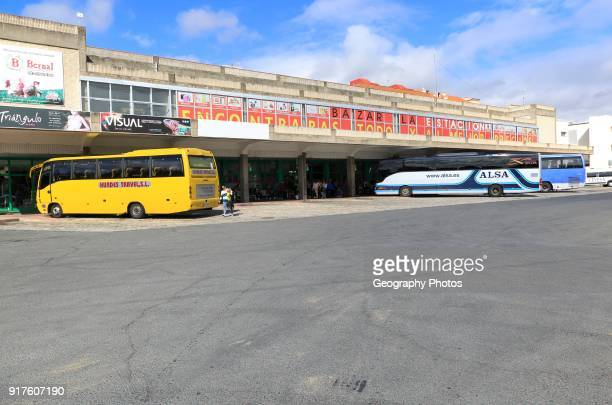 Coaches at bus station Plasencia Caceres province Extremadura Spain