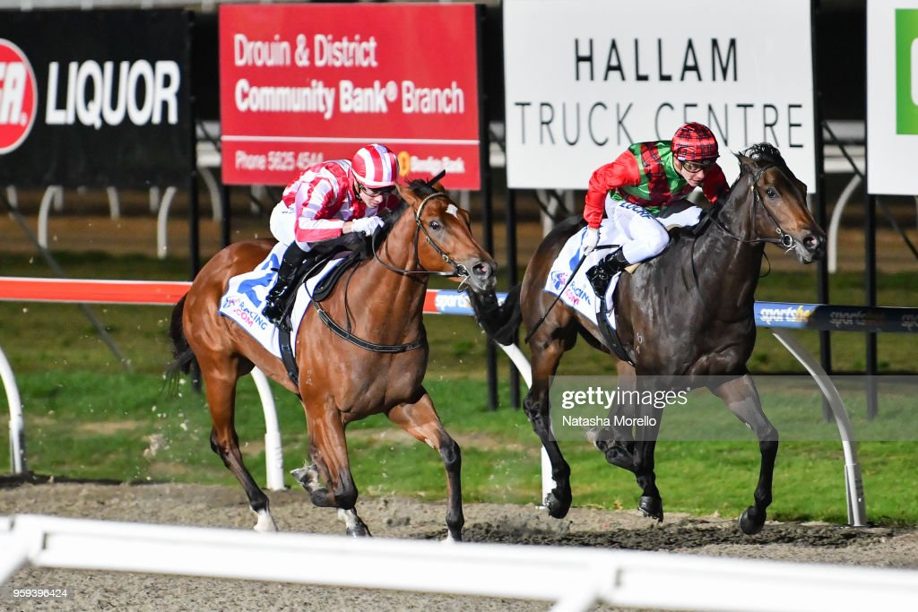 Coaches Award ridden by Jye McNeil wins the Racing.com 3YO Maiden Plate at Racing.com Park Synthetic Racecourse on May 17, 2018 in Pakenham, Australia.