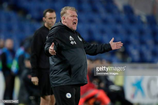 Coachh Robert Prosinecki of Bosnia and Herzegovina during the UEFA Nations league match between Spain v Bosnia and Herzegovina at the Estadio de Gran...