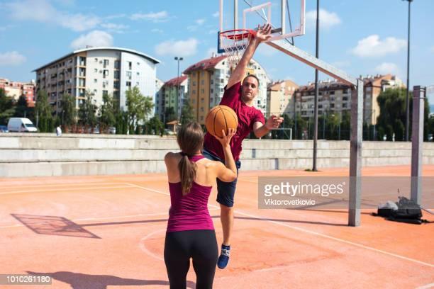 Coaching a basketball