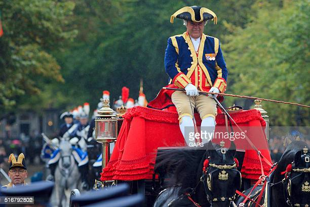 coachman on lange voorhout during prinsjesdag in the hague - prinsjesdag stock photos and pictures