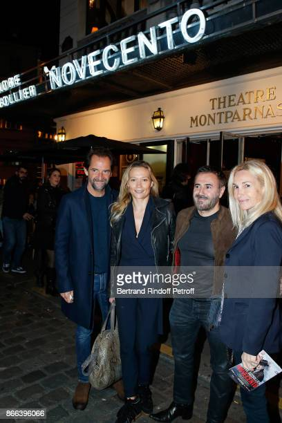 CoAdapter Stephane de Groodt humorist Caroline Vigneaux actor Jose Garcia and his wife director Isabelle Doval attend the 'Novecento' 200th...