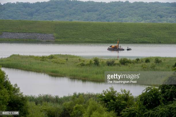 Coal ash pond D at Possum Point Power Station in Dumfries Va on June 26 2015 Ash Pond D is where Dominion Resources is moving all of the existing...