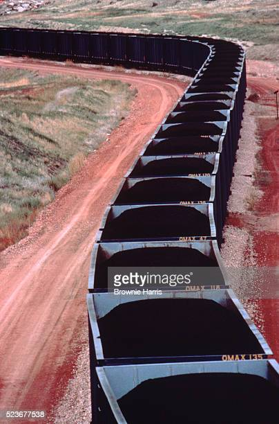 Coal cars, Wyoming