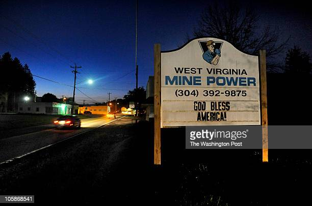 A coal company sign can be seen as one enters the town of Rupert W Va Just above the town is the Pocahontas Mine where coal miner Wilbert Ray...