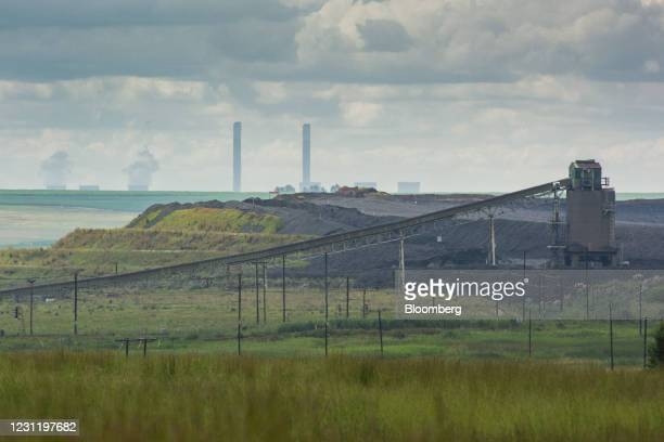 Coal conveyor at the Goedehoop coal mine, operated by Anglo American Plc, in Mpumalanga, South Africa, on Tuesday, Jan. 12, 2021. In South Africa,...