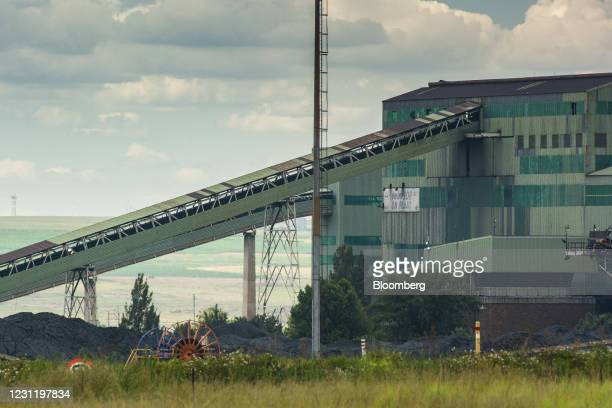 Coal conveyors at the Goedehoop coal mine, operated by Anglo American Plc, in Mpumalanga, South Africa, on Tuesday, Jan. 12, 2021. In South Africa,...