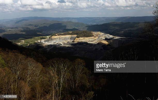 Coal Corporation surface mining operations continue in the Appalachian Mountains on April 16 2012 in Wise County Virginia Critics refer to this type...