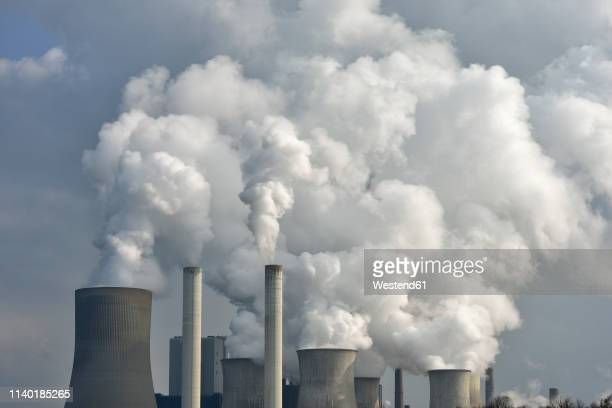 coal fired power station niederaussem, niederaussem, bergheim district, north rhine-westphalia, germany - cooling tower stock pictures, royalty-free photos & images
