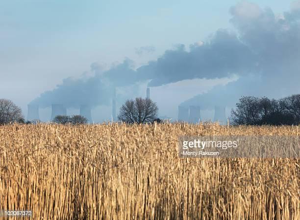 coal fired power station with biofuel - monty rakusen stock-fotos und bilder