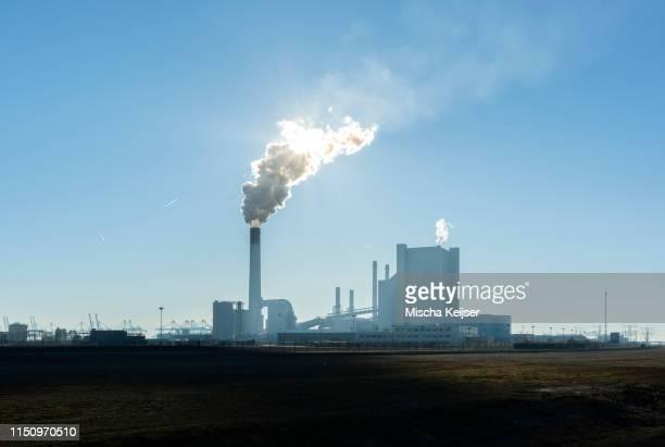 coal fired power stations, maasvlakte, rotterdam, zuid-holland, netherlands - carbon dioxide bildbanksfoton och bilder