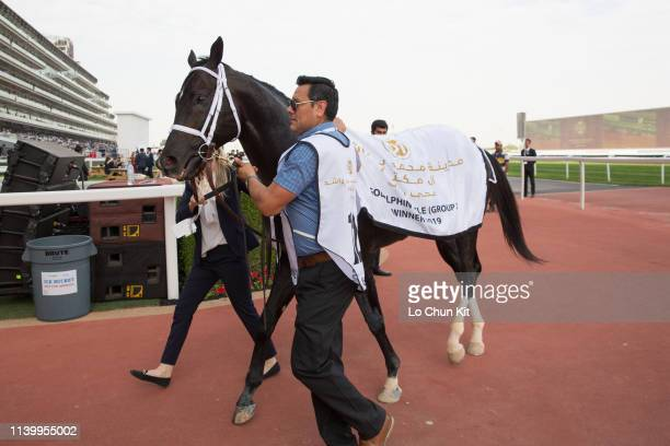 Coal Front wins the Godolphin Mile during the Dubai World Cup Day at Meydan Racecourse on March 30, 2019 in Dubai, United Arab Emirates.