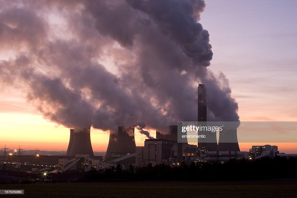 Coal fueled power station. : Stock Photo