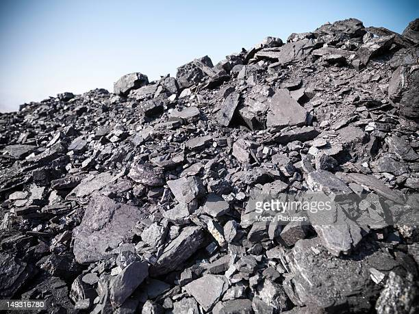 Coal in opencast coalmine