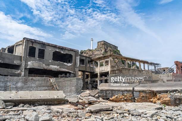 coal mine abandoned buildings - 遺跡 ストックフォトと画像